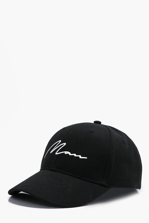 Signature Embroidered Baseball Cap - black - MAN S