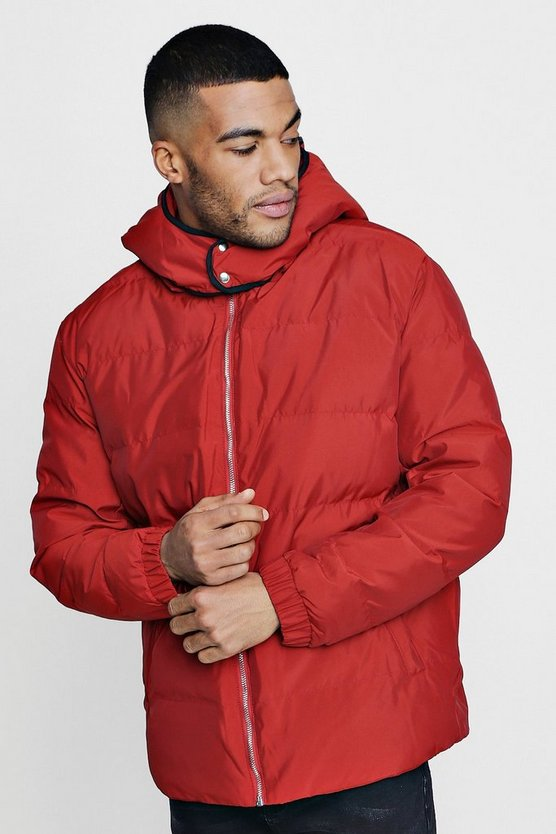 Quilted Jacket With Oversized Hoodie