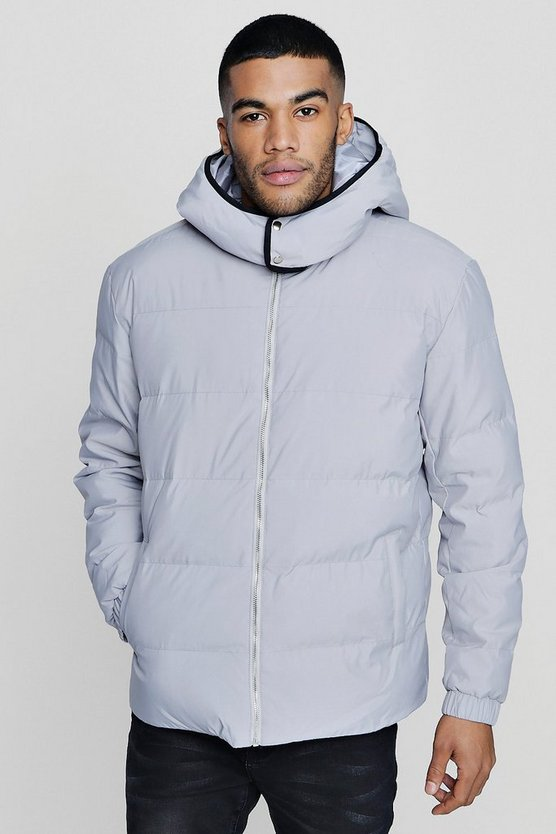 Quilted Jacket With Oversized Hood