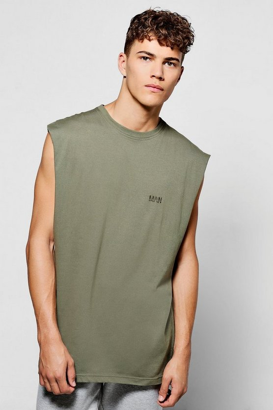 Oversized Sleeveless Man T-Shirt