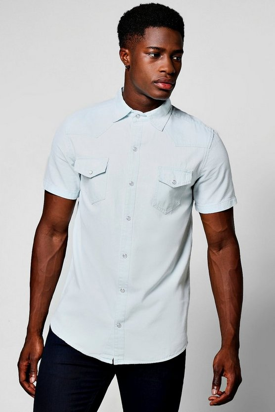 Short Sleeve Denim Western Shirt