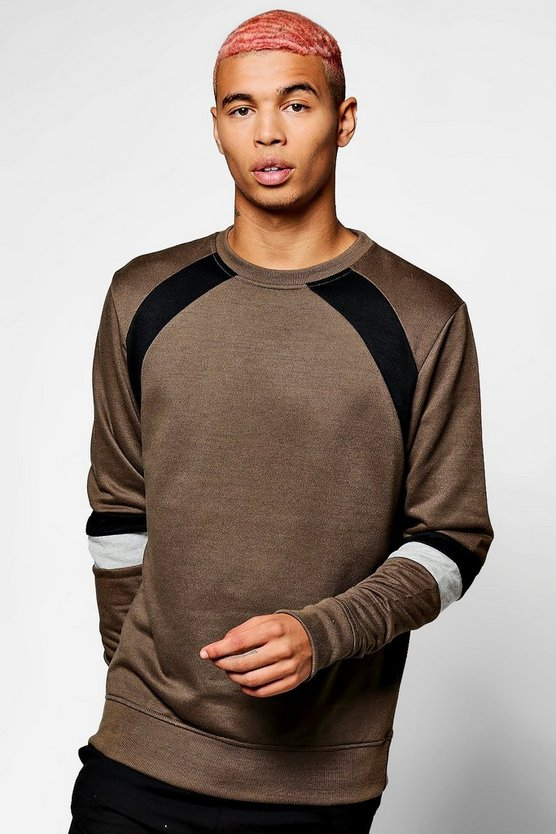 Colour Block Raglan Sweater