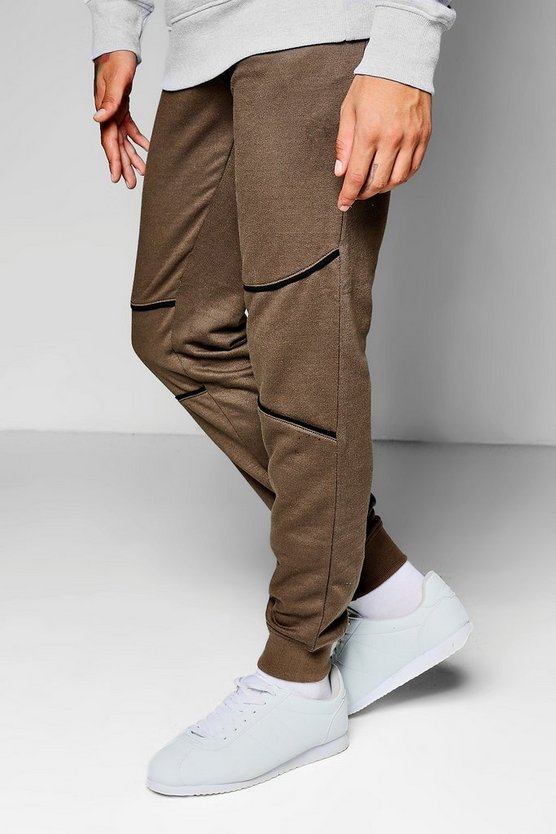 Skinny Fit Jogger With Piping