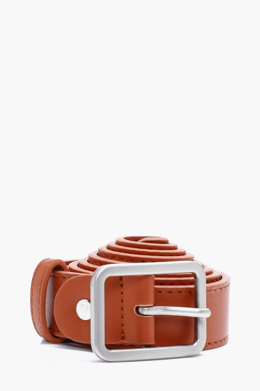 PU Skinny Belt - brown - Brown PU Skinny Belt - br