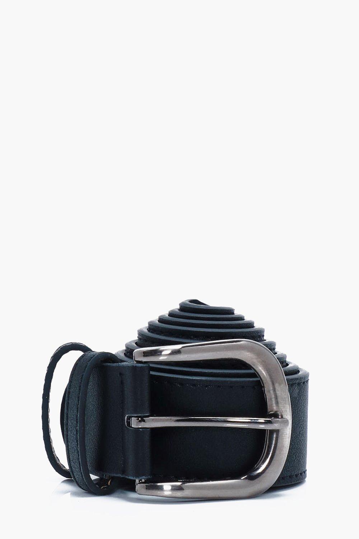 Faux Leather Belt - black - Black Faux Leather Bel