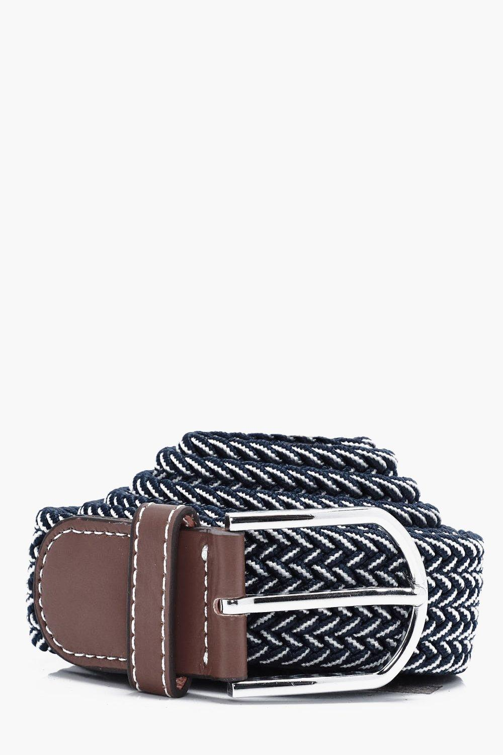 Elasticated Belt With Contrast Thread - black - Bl