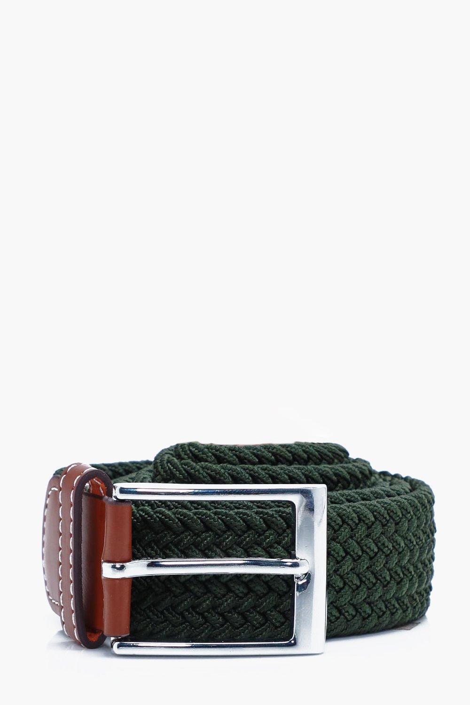 Elasticated Belt - khaki - Khaki Elasticated Belt