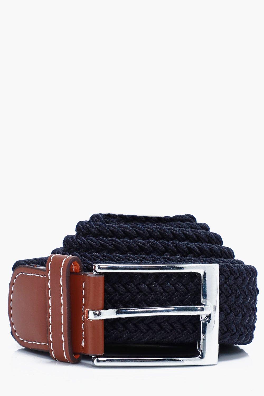 Elasticated Belt - navy - Navy Elasticated Belt -