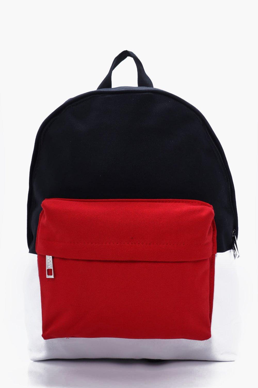 Block Back Pack - red - Colour Block Back Pack - r