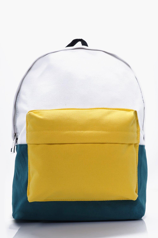 Block Back Pack - yellow - Colour Block Back Pack