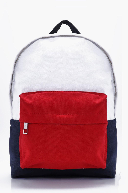 Block Back Pack - white - Colour Block Back Pack -