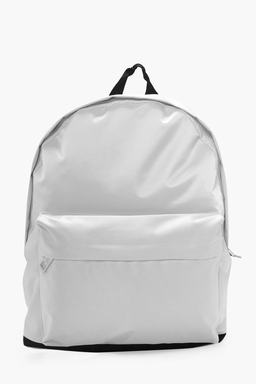 Nylon Backpack - white - Monochrome Nylon Backpack