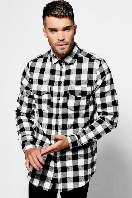 Western Style Long Sleeve Check Shirt