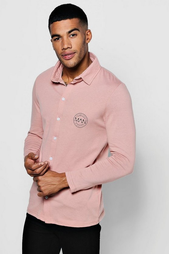 Long Sleeve Jersey Shirt With MAN Logo