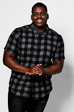 Big And Tall Check Short Sleeve Shirt