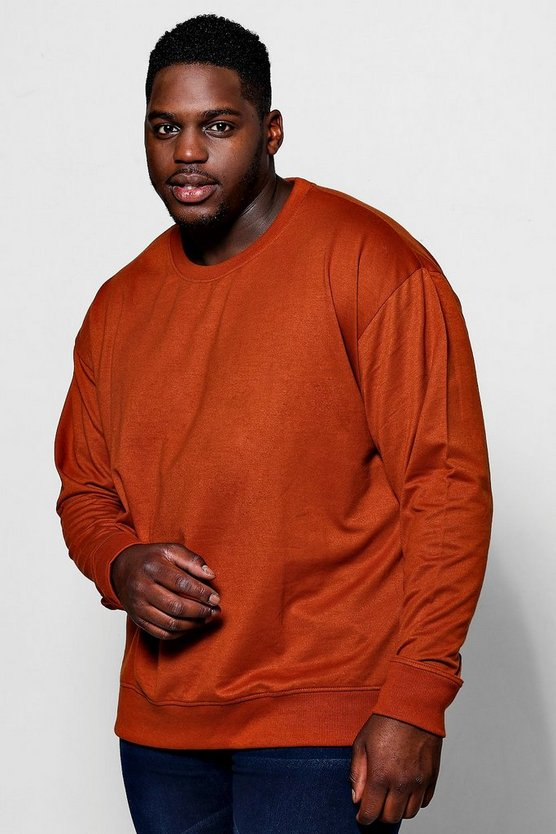 Big And Tall Basic Crew Neck Sweater