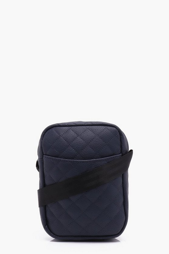 Quilted Cross Body Man Bag