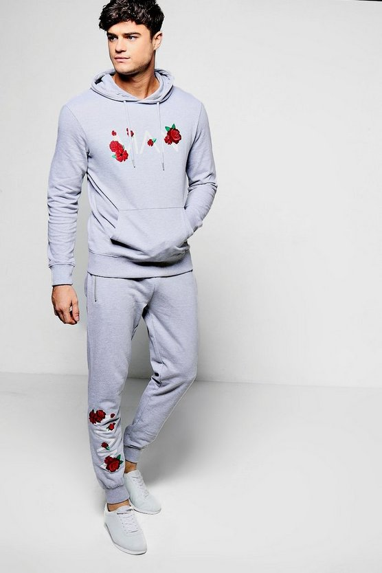 Floral MAN Embroidered Tracksuit