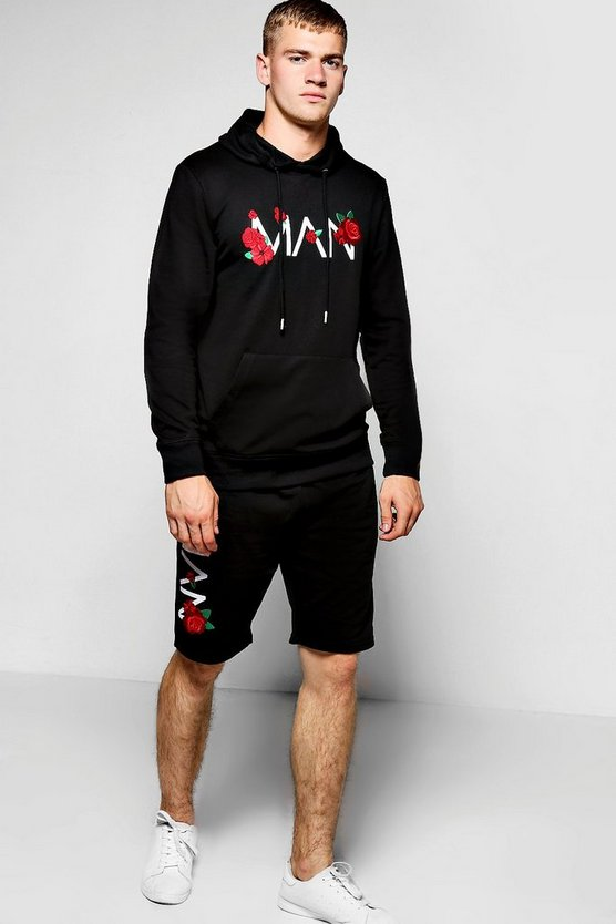 Floral MAN Embroidered Short Tracksuit