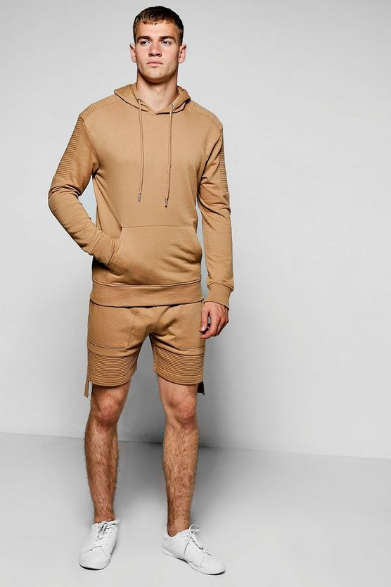 Hooded Biker Short Tracksuit