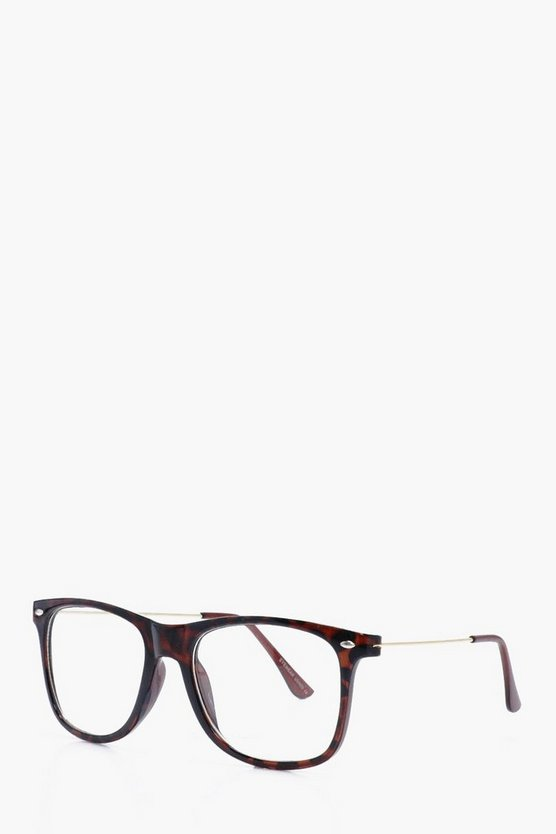 Clear Lens Tortoise Shell Glasses