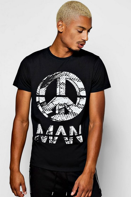 Peace MAN Print T-Shirt