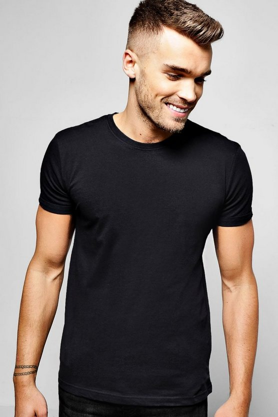 Crew Neck T-Shirt with Rolled Sleeves