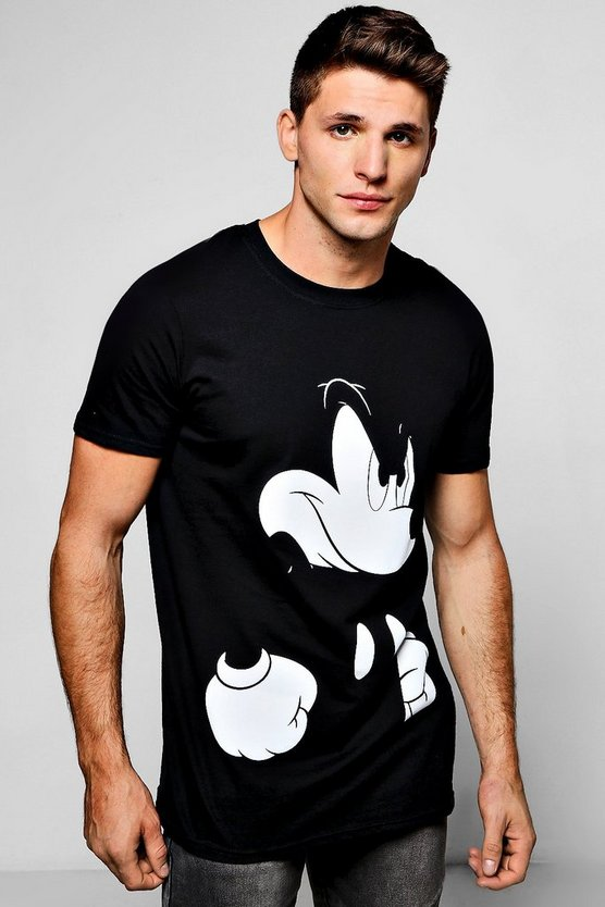 Disney Angry Mickey Crew Neck T-Shirt