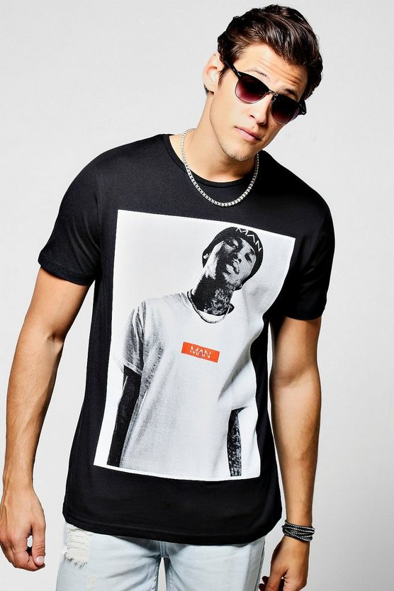 TYGA MAN Dash Photo Print T-Shirt