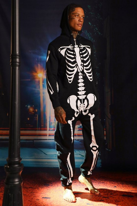Halloween Black Skeleton Onesies