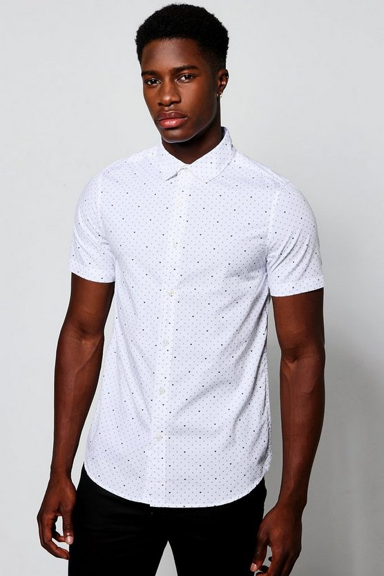 Short Sleeve X Print Shirt