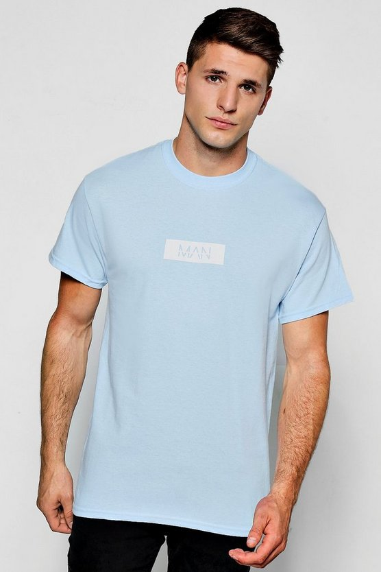 MAN White Box Print T-Shirt