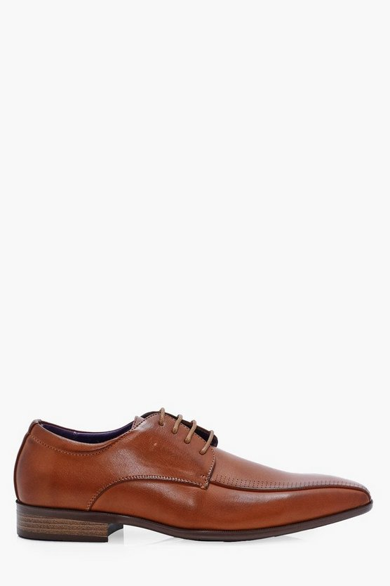 Smart Lace Up Shoes With Perforated Detail
