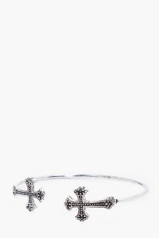 Decorative Crucifix Bangle