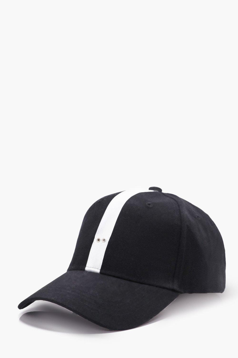 Stripe Cap - black - Grosgrain Stripe Cap - black