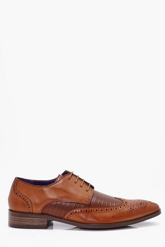Contrast Wing Tip Brogues