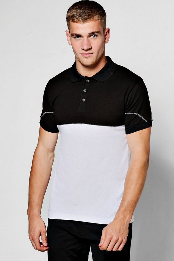 Chain Stitch Polo Shirt