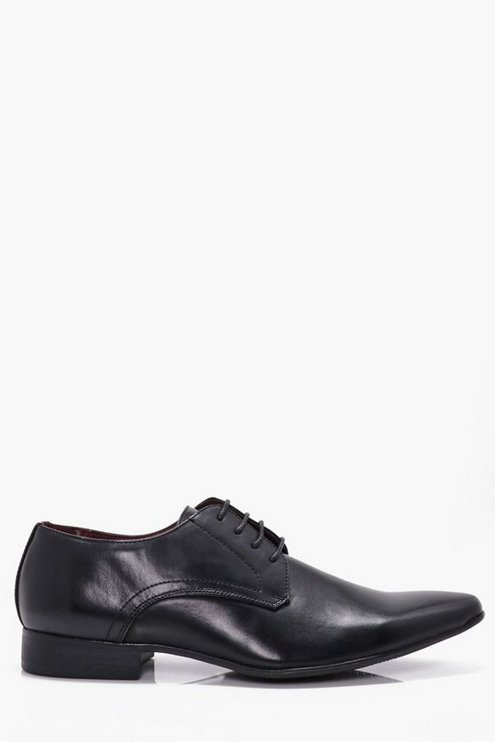 Black Smart Lace Up Shoes