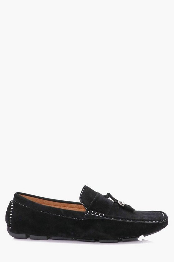 Faux Suede Tassel Loafers
