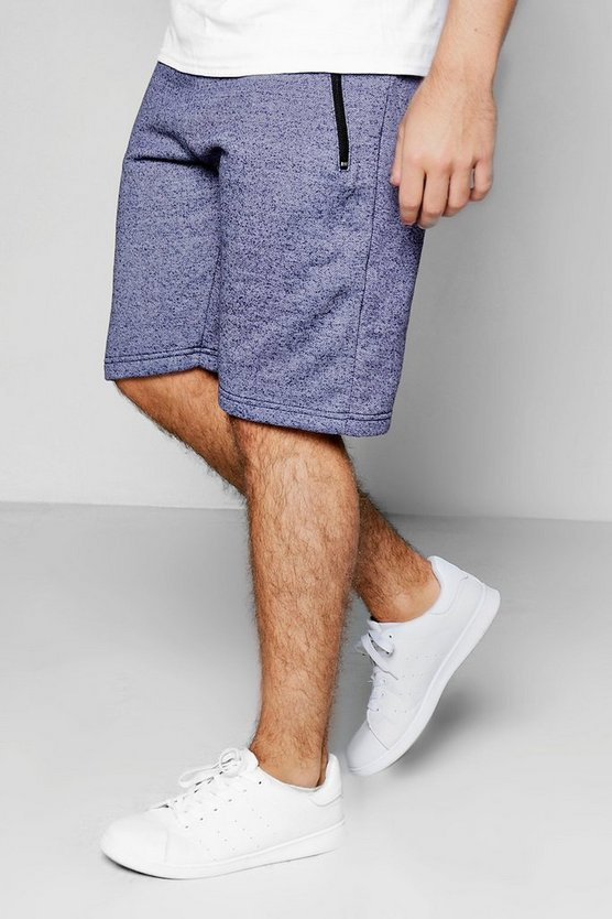 Jersey Shorts In Nep With Zip Pockets