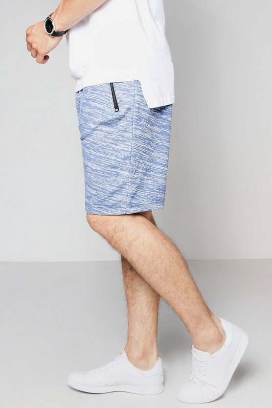 Jersey Space Dye Shorts In Mid Length