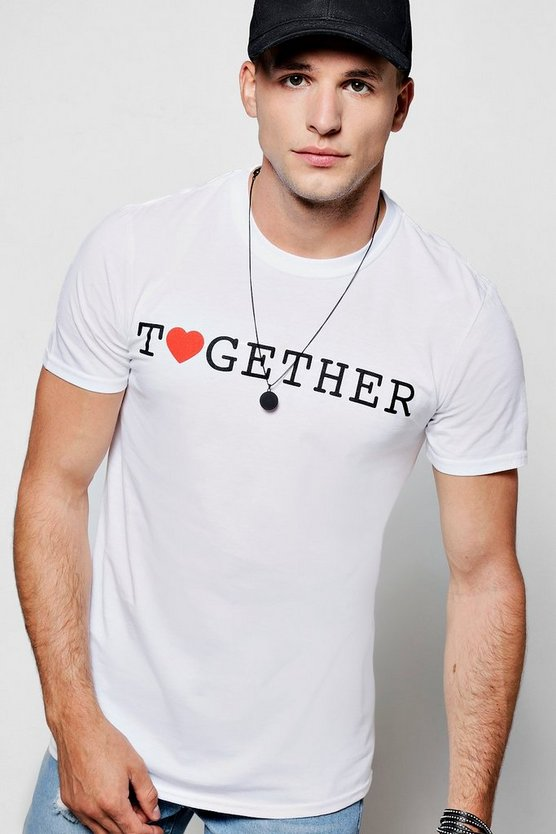 Charity Together Print Crew Neck T-Shirt
