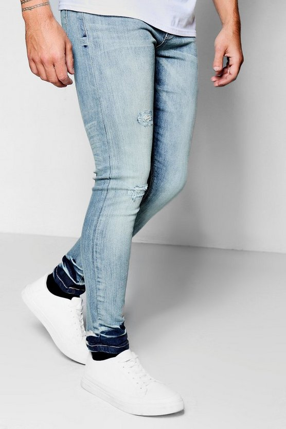Spray on Skinny Jeans with Hem Detail