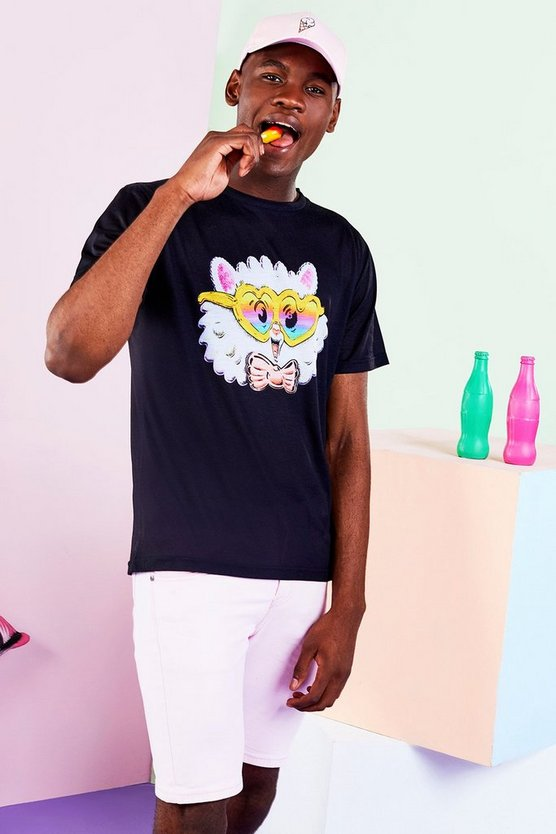 BoohooMAN x Philip Normal Cat Print T Shirt