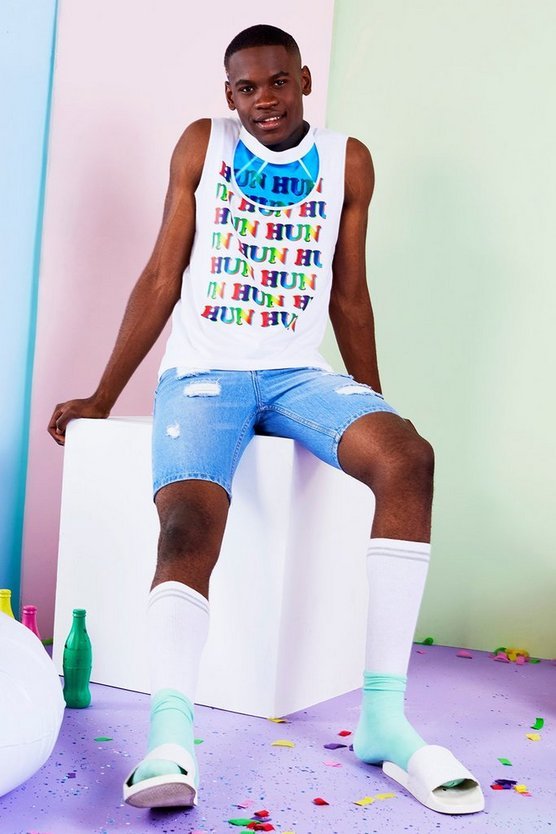 BoohooMAN x Philip Normal HUN Print Tank