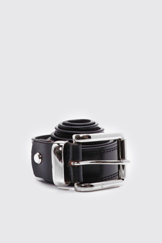 Real Leather Belt - black - Black Real Leather Bel