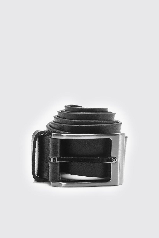 Leather Belt - black - Real Leather Belt - black