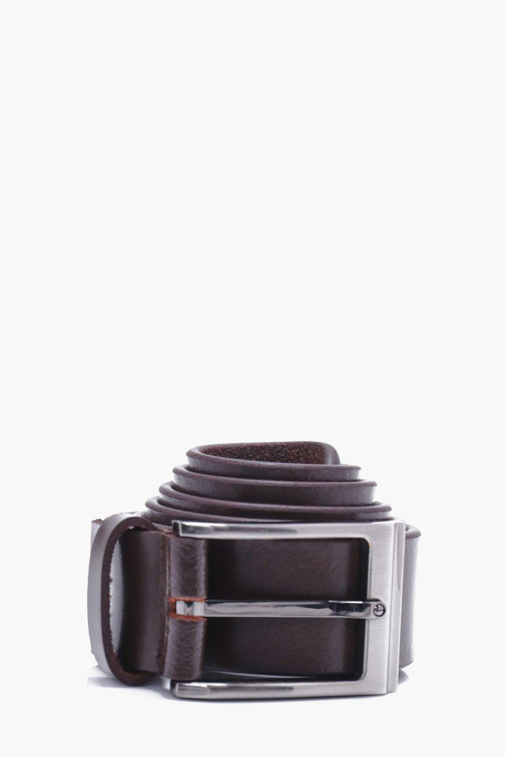 Leather Belt - brown - Real Leather Belt - brown