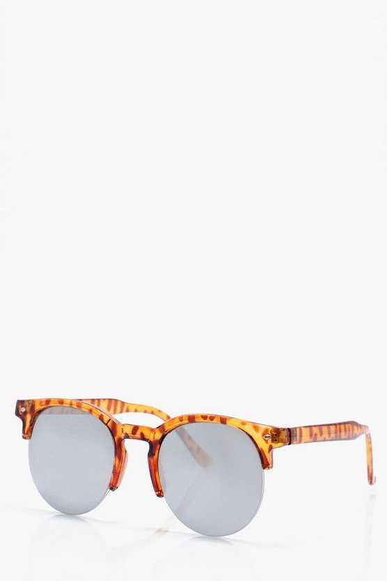Brown Lense Clubmaster Sunglasses