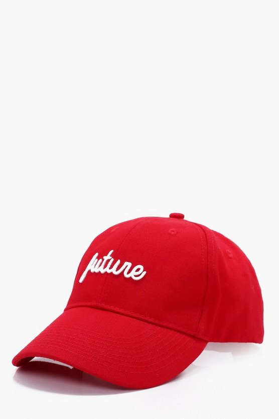 Red Future Embroidered Cap